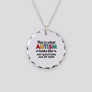Autism Looks Like Necklace Circle Charm