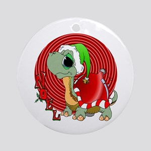 Noel Turtle Ornament (Round)