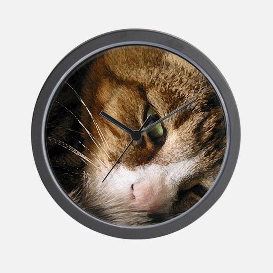Unique Cats curled up Wall Clock