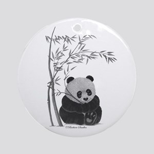Little Panda Ornament (Round)