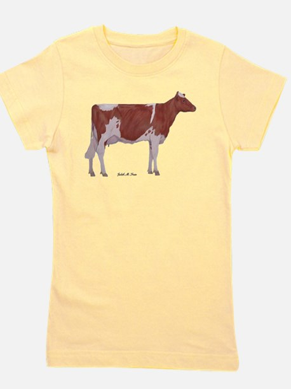Golden Guernsey cow Girl's Tee