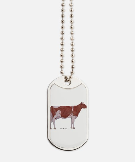 Golden Guernsey cow Dog Tags