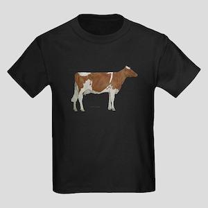 Golden Guernsey cow Kids Dark T-Shirt