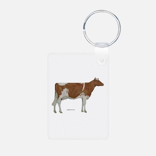 Golden Guernsey cow Keychains