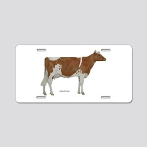 Golden Guernsey cow Aluminum License Plate