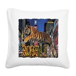 Tiger Roar Square Canvas Pillow