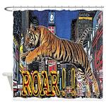 Tiger Roar Shower Curtain