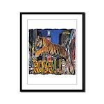 Tiger Roar Framed Panel Print