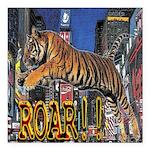 Tiger Roar Square Car Magnet 3