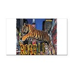 Tiger Roar Rectangle Car Magnet