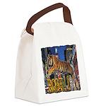 Tiger Roar Canvas Lunch Bag