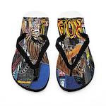 Tiger Roar Flip Flops