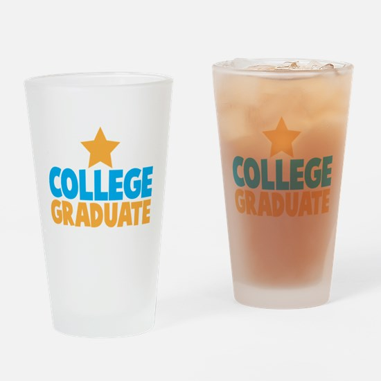 College Graduate with a star Drinking Glass