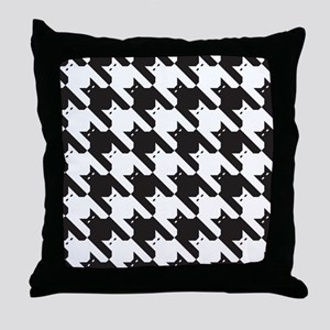 Cats Tooth Pattern Throw Pillow