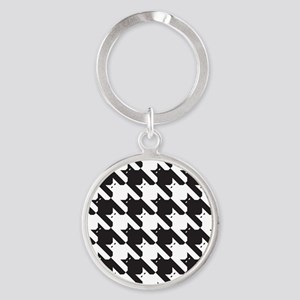 Cats Tooth Pattern Round Keychain