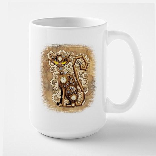 Steampunk Cat Vintage Style Mugs