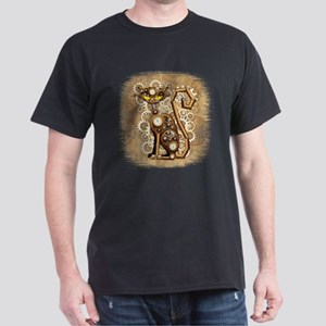 Steampunk Cat Vintage Style T-Shirt