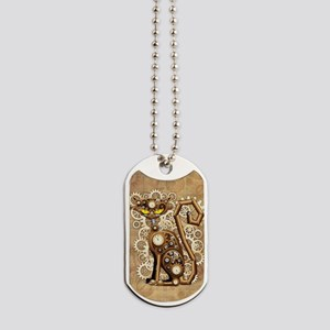 Steampunk Cat Vintage Style Dog Tags