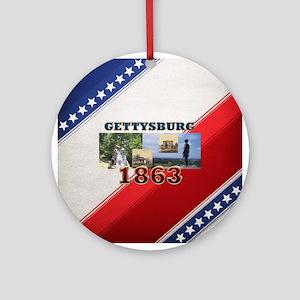 ABH Gettysburg Ornament (Round)