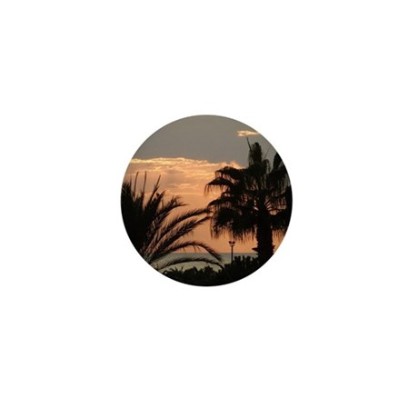 Sunset with Palms Mini Button