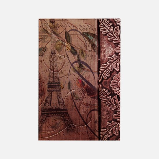 french botanical paris eiffel tow Rectangle Magnet