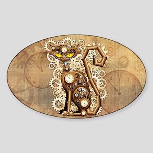 Steampunk Cat Vintage Style Sticker