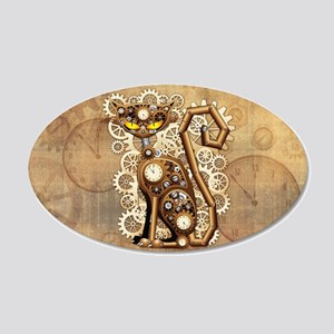 Steampunk Cat Vintage Style Wall Decal