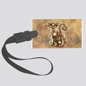 Steampunk Cat Vintage Style Luggage Tag