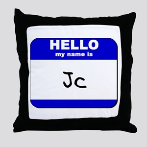 hello my name is jc  Throw Pillow