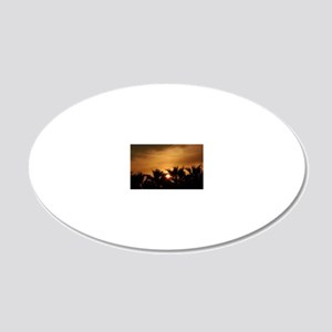 Sunset 20x12 Oval Wall Decal