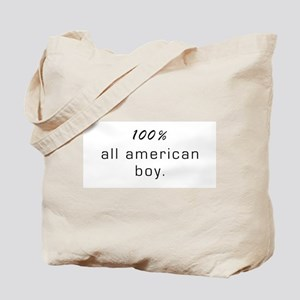 100% All American Boy Tote Bag