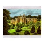 Compton Wynyates Topiary Garden Painting Throw Bla