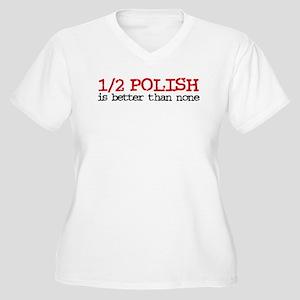 1/2 Polish Women's Plus Size V-Neck T-Shirt