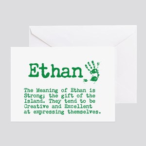 Meaning name stationery cafepress the meaning of ethan greeting cards m4hsunfo