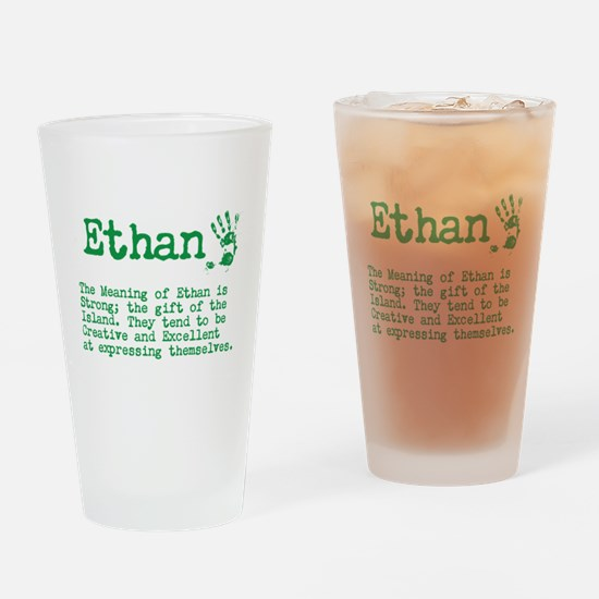 The Meaning of Ethan Drinking Glass