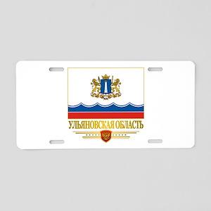 Ulyanovsk Oblast Flag Aluminum License Plate