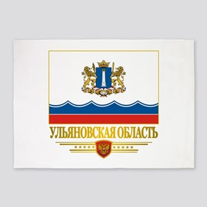 Ulyanovsk Oblast Flag 5'x7'Area Rug
