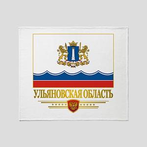 Ulyanovsk Oblast Flag Throw Blanket