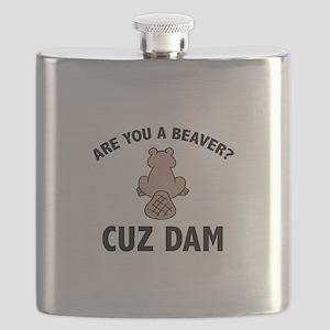 Are You A Beaver? Cuz Dam Flask