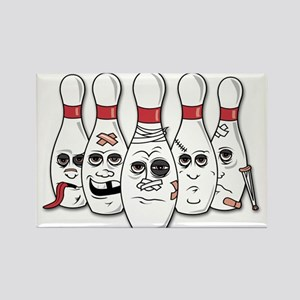 Battered Bowling Pins Magnets