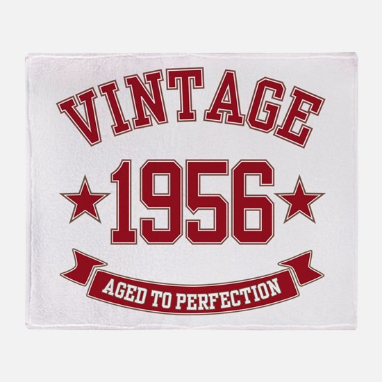 1956 Vintage Aged to Perfection Throw Blanket