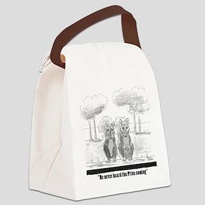 squirrel vs. Prius Canvas Lunch Bag