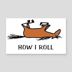 How I Roll Rectangle Car Magnet
