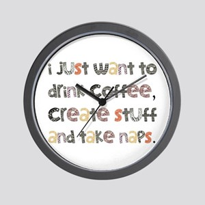 I Just Want To Drink Coffee Wall Clock