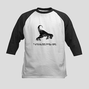 Vintage T-Rex hates Push-ups Baseball Jersey