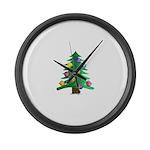 Christmnas Tree Large Wall Clock
