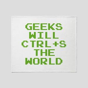 Geeks Will CTRL+S The World Stadium Blanket