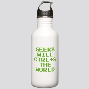 Geeks Will CTRL+S The World Stainless Water Bottle