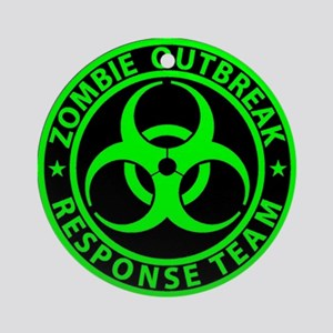 Zombie Outbreak Response Team Sign Round Ornament