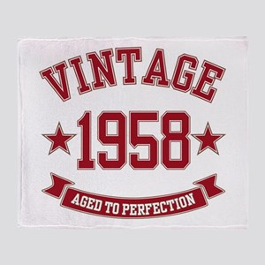 1958 Vintage Aged to Perfection Throw Blanket